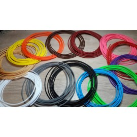 Color braid in 4mm for cables up to 6mm. QTY : 1 meter